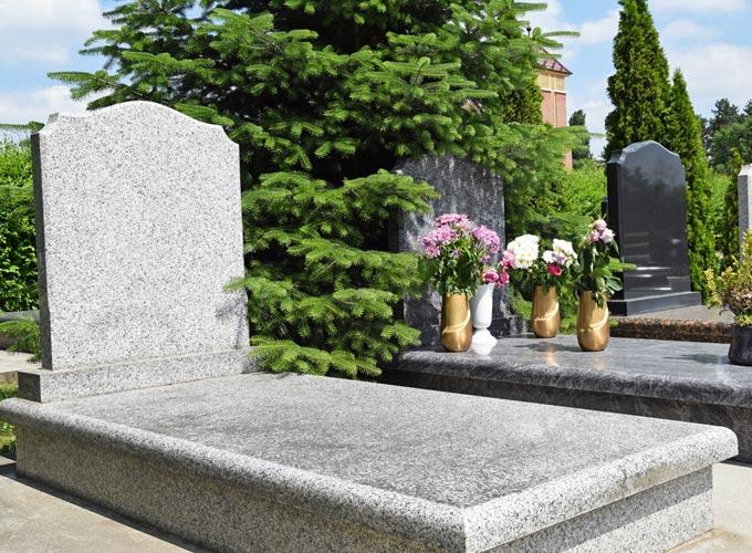 Blank memorial stones